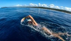 Caption: Sarah Ferguson, an ambassador for the SPAR Eastern Cape Stop Plastic campaign, swam 100km in six days on the Elephant Coast in Mozambique and KwaZulu-Natal last month to highlight the threat of plastic pollution. Picture: Wofty Wild