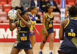 CAPTION: Mihlali Mahlangeni has helped the SPAR Madibaz team to reach the verge of qualifying for the semifinals in the Varsity Netball tournament this season. Picture: Michael Sheehan/Varsity Sports