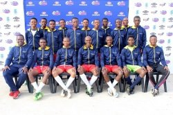 CAPTION: The Ndzondelelo soccer team, which qualified for the Engen regional tournament this year, will also play in the national finals of the Kay Motsepe Cup. The team is (front, from the left) Kwanele Nkabi, Xhantilomzi Blanket, Voorman Anele, Nkosinathi Mhlanga (captain), Feleni Athenkosi, Mgeyana Lutho, Asandile Gomba (coach); (middle, from the left) Kawe Thando, Phali Liyema, Jela Lihle, Sonjani Nkcubeko; (back, from the left) Mgayi Loyiso, Nyati Silondokuhle, Mbele Likhona, Mentoor Siyamthanda and Siya Adams. Picture: Supplied