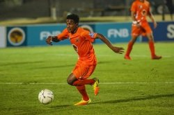 CAPTION: University of Johannesburg's Tebogo Mandyu will have an important role to play when his team face Wits in the Varsity Football semifinals at UJ's Soweto campus on Thursday. Mandyu was player of the match in last week's encounter against North-West University. Picture: Dominic Barnardt/Varsity Sport