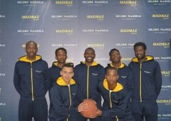 CAPTION: The Madibaz basketball outfit are aiming for a spot in the top four when the inaugural Varsity Basketball tournament gets underway at the Wits University Sports Hall in Johannesburg today. Pictured are (back, from left) Takudzwa Tigere, Thembelani Terrence, Mangwana Shingirayi, Matunhira Khayelithle, Ngema Denny; (front, from left) Yusrie Astrie and Mashudu George Mabata. Photo: Brittany Blaauw