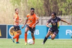 CAPTION: University of Johannesburg star Amanda Mthandi is relishing the prospect of representing South Africa in the African Cup of Nations women's soccer tournament, starting in Ghana on Saturday. Picture: Barco Greeff