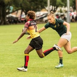CAPTION: Madibaz rugby star Eloise Webb has been awarded a contract with the national sevens team for the next two years. Picture: Supplied