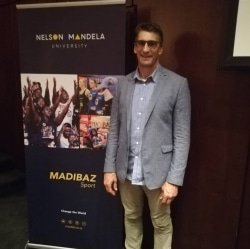 CAPTION: Former Presidential Protection Unit team leader Rory Steyn gave an address at Nelson Mandela University, arranged by Madibaz Sport, on Thursday at which he spoke about life lessons he learnt from late president Nelson Mandela. Photo: Brittany Blaauw