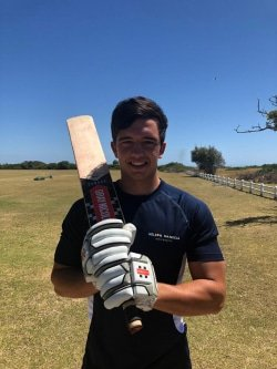 CAPTION: Madibaz cricket captain David Masterson will lead the team against Fort Hare University in the Eastern Cape play-off at the Madibaz Oval in Port Elizabeth on Saturday. The winners will qualify for the Momentum National Club Cricket Championship in Pretoria from April 13 to 17. Photo: Supplied