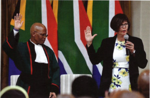 Barbara Creecy is sworn in as Minister of the Environment