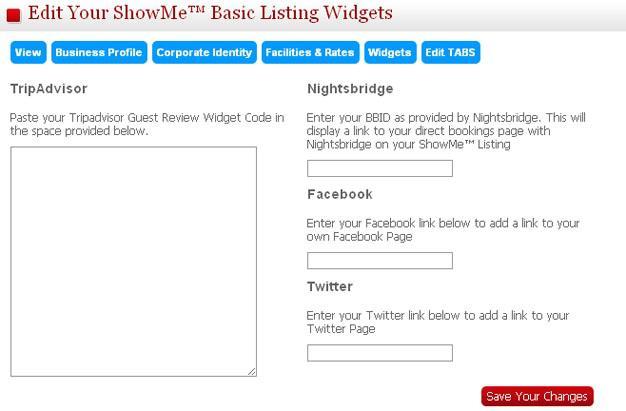 My Business Listings Widgets