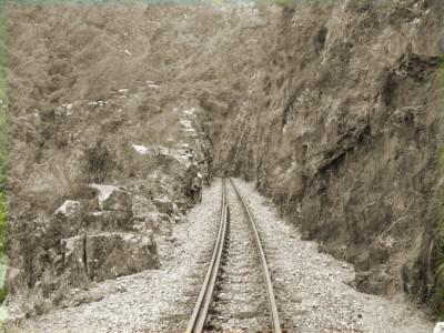 Train Tracks over the Mountain