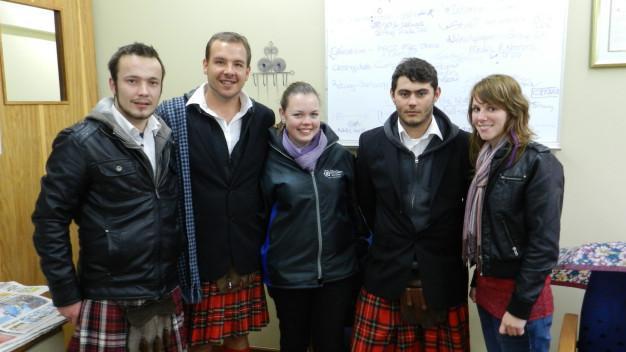 Armand Gerber, Roelof Steyl, Nelia Fourie, Zihan Strydom and Adri Botha