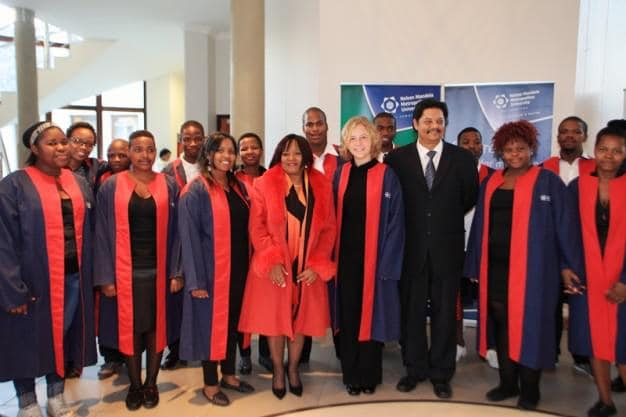 The NMMU George Campus Choir utilises every opportunity to warmly welcome guests to the campus with their vocal talent.  The Campus Principal, Prof Quinton Johnson; Prof Edith Vries, the Director-General: Department of Agriculture, Forestry and Fisheries (keynote speaker at a distinguished public lecture recently held at the NMMU George Campus), and members of the public were treated to extracts from the choir's new repertoire prior to the start of the lecture.