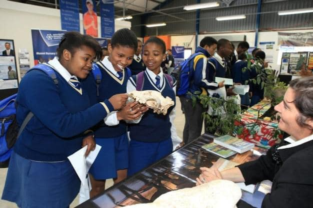 Lecturer and Deputy Head of NMMU' Sustainability Research Unit, Bianca Currie, gave visiting learners a glimpse of what they can expect if they enrol for studies in Nature Conservation and Game Ranch Management at NMMU George.