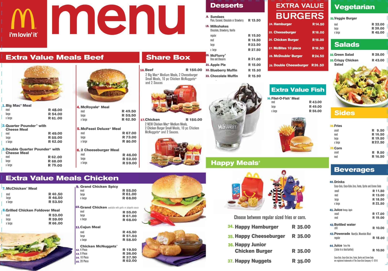 Greek Food Menu Pdf