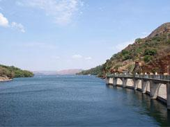A view of Hartbeespoort Dam from the tunnel