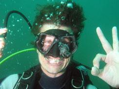 Diver having fun at Miracle Waters
