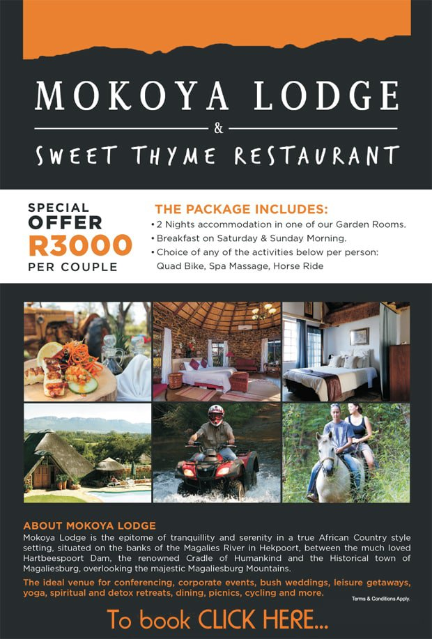 Mokoya Lodge Special Offer | Hartbeespoort
