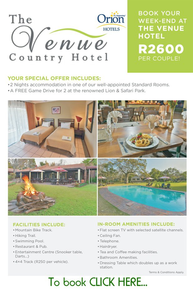 The Venue Special Offer | Hartbeespoort