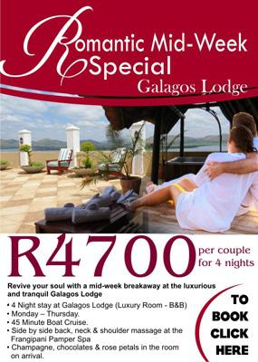 Mid-week Special Offer at Galagos Lodge in Hartbeespoort