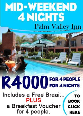Hartbeespoort accommodation special offer | Palm Valley Inn