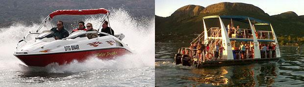 Water sports, boat cruises & tube rides on Hartbeespoort Dam
