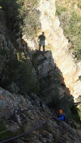 Abseiling in Harties