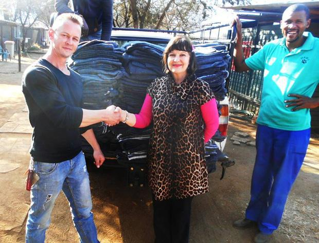 Blankets delivered to HAWS
