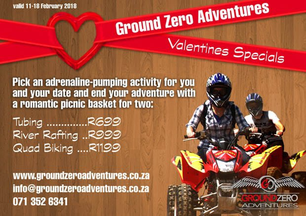 Valentines Specials at Ground Zero | Hartbeespoort