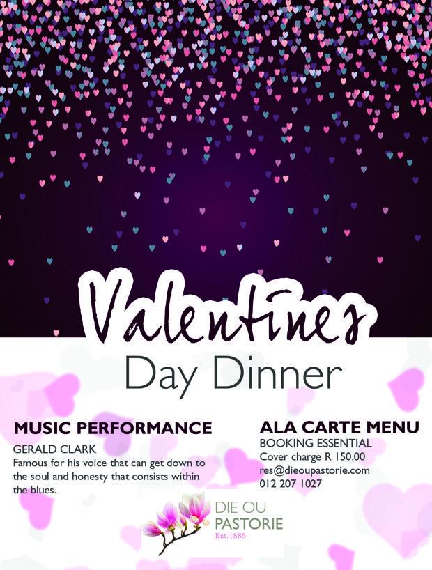 Valentines Dinner at Die Ou Pastorie in Hartbeespoort