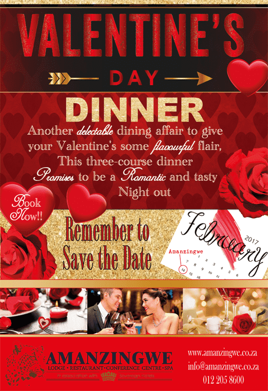 Valentines Day Dinner @ Amanzingwe Lodge