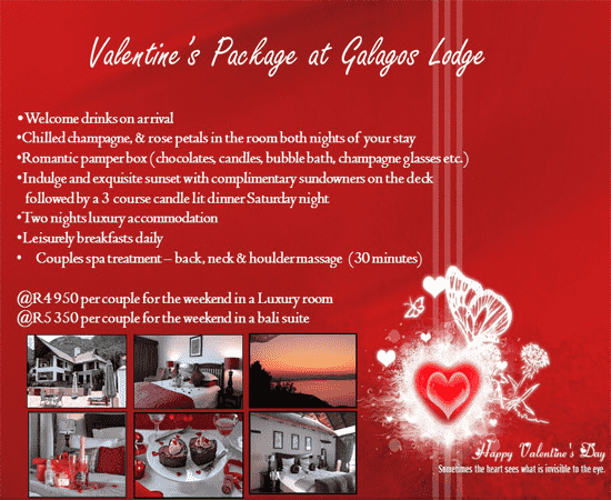Valentone's Package @ Galagos Lodge