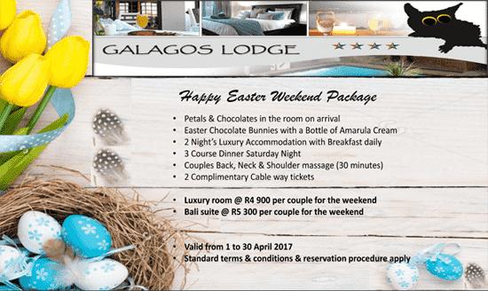 Galagos Lodge April 2017 Promotion   Hartbeespoort Dam