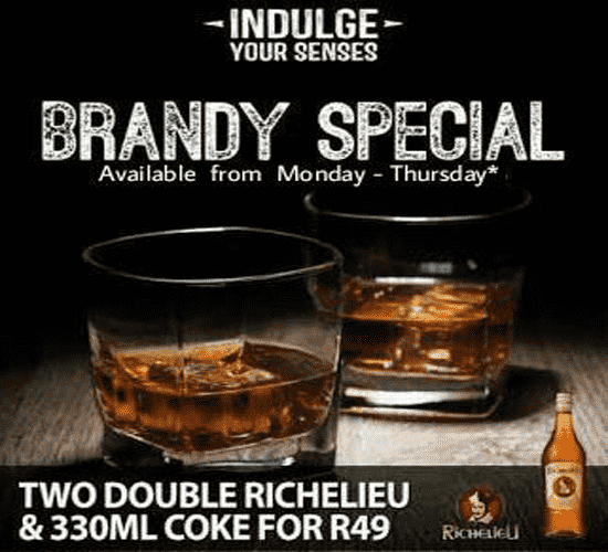 Hartbeespoort Brandy Special @ Leadwood Inn