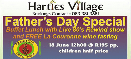 Hartbeespoort Fathers Day @ Melodie Dining Theatre