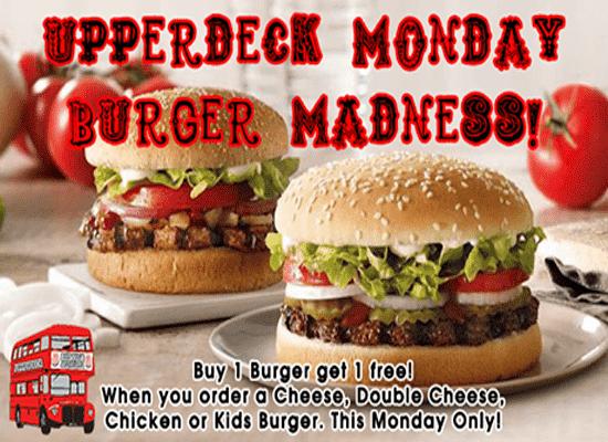Hartbeespoort Monday Burger Madness @ Upperdeck