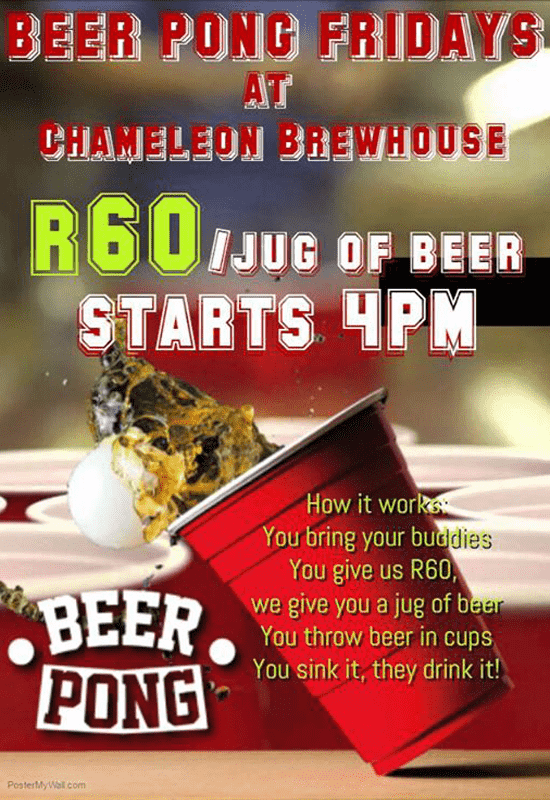 Harties Beer Pong Fridays @ Chameleon Brewhouse