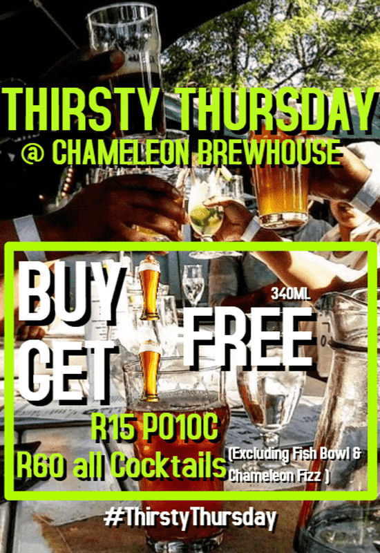 Harties Thirsty Thursdays @ Chameleon Brewhouse