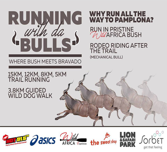 Harties Run with da bulls @ Lion & Safari park