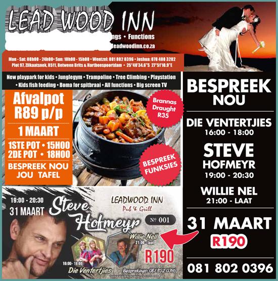 Leadwood Inn this March