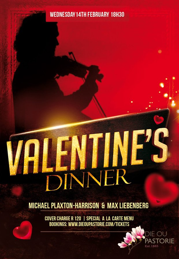 Valentines Dinner at die Ou pastorie