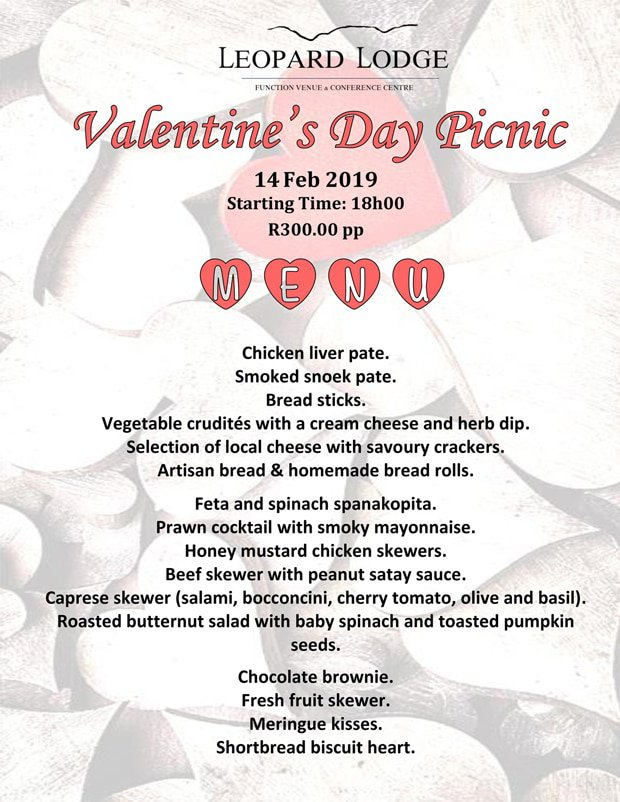 Leopard Lodge Valentines Picnic