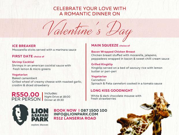 Valentines Dinner and Night Drive | Lion & Safari Park