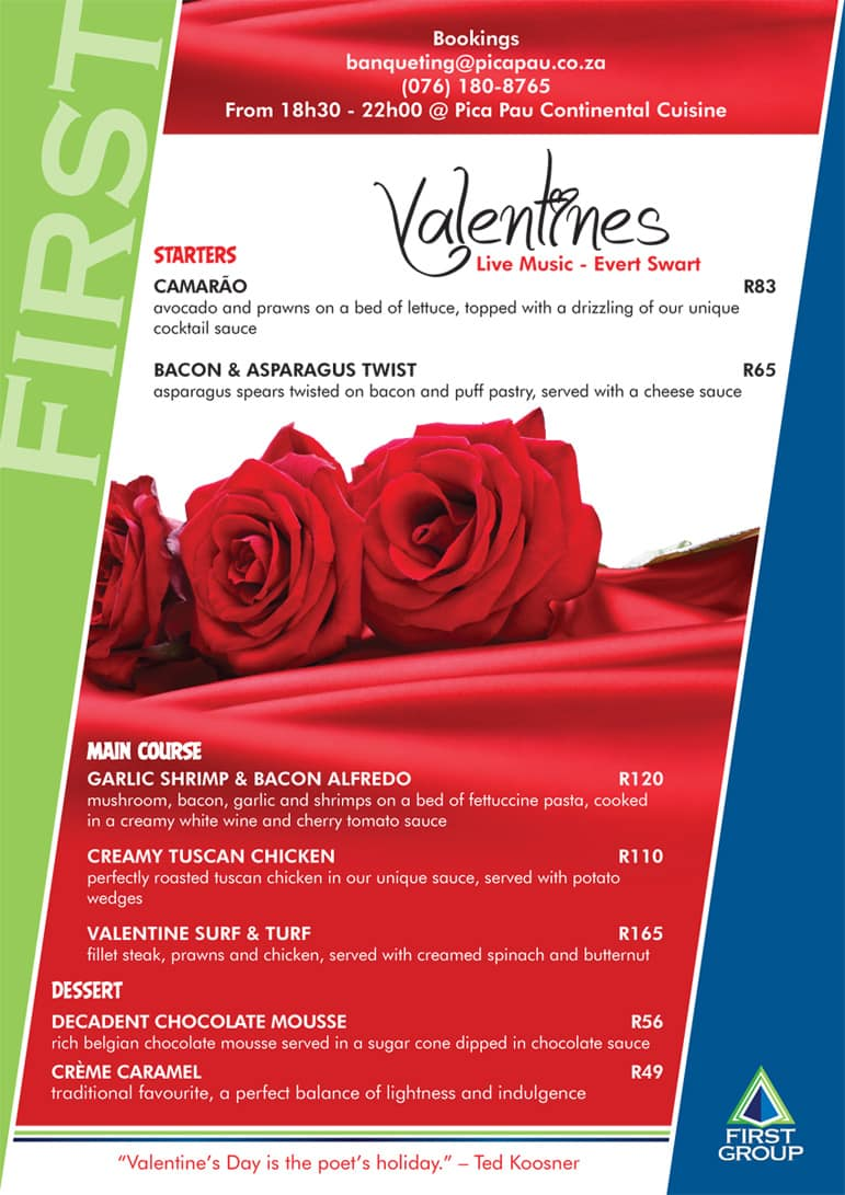 Valentine Dinner at Pica Pau Restaurant | Hartbeespoort