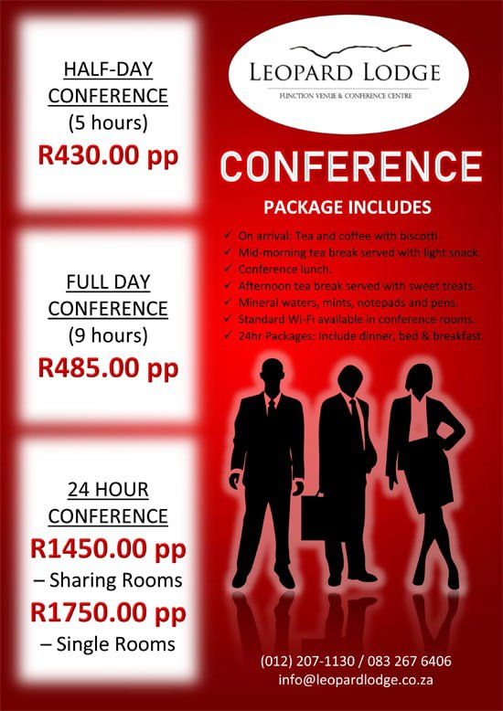 Conference Specials at Leopard Lodge