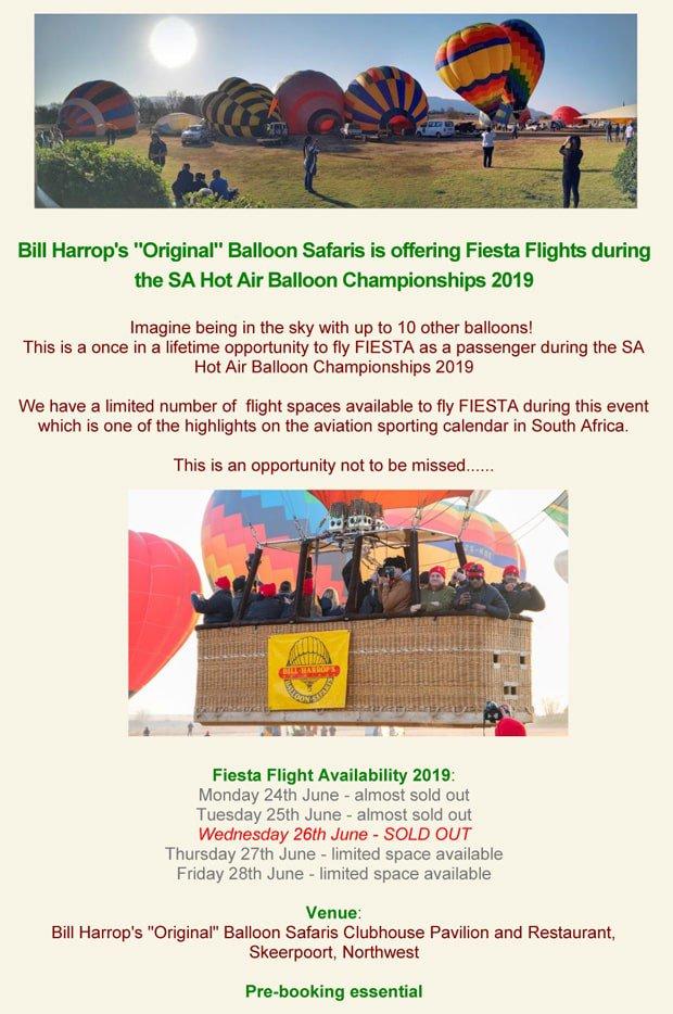 "Siesta Flights with Bill Harrop's ""Original"" Balloon Safaris"