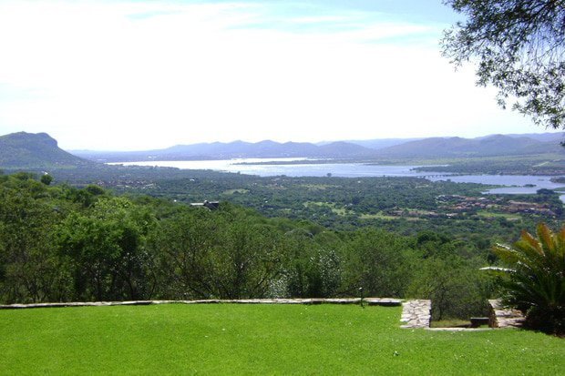 View of Hartbeespoort Dam from Leopard Lodge.