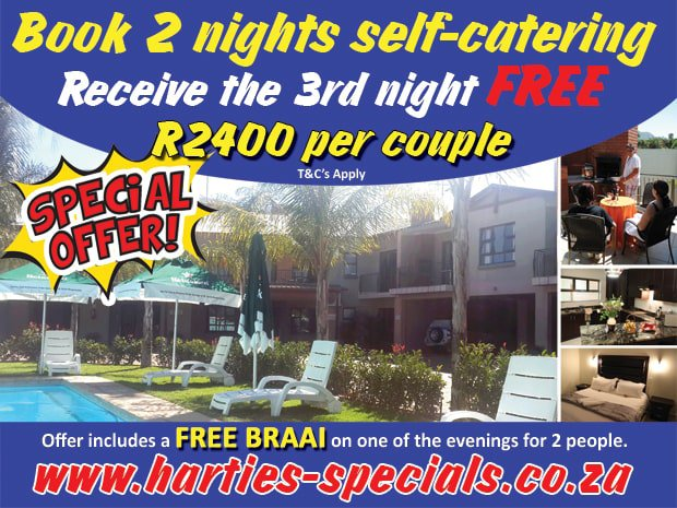 Self-Catering Special Offer | Hartbeespoort