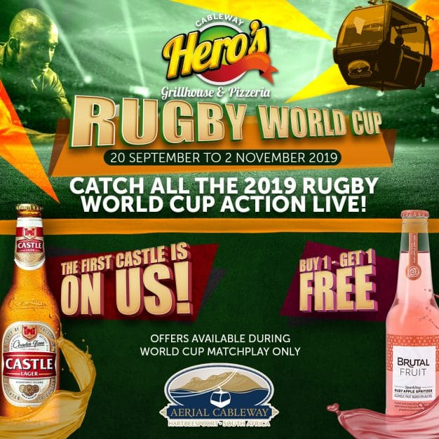 Rugby World Cup Action Live at Aerial Cableway | Hartbeespoort