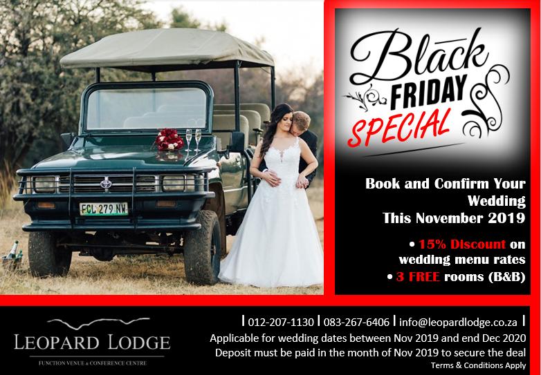 Black Friday Wedding Special Offer