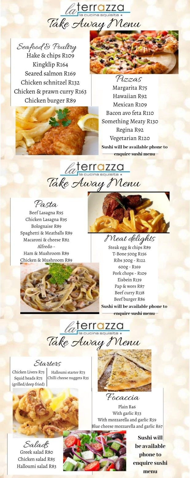 Take Away Menu Deliveries La terrazza Restaurant