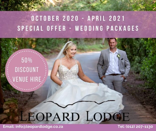 Leopard Lodge Wedding Special Offer