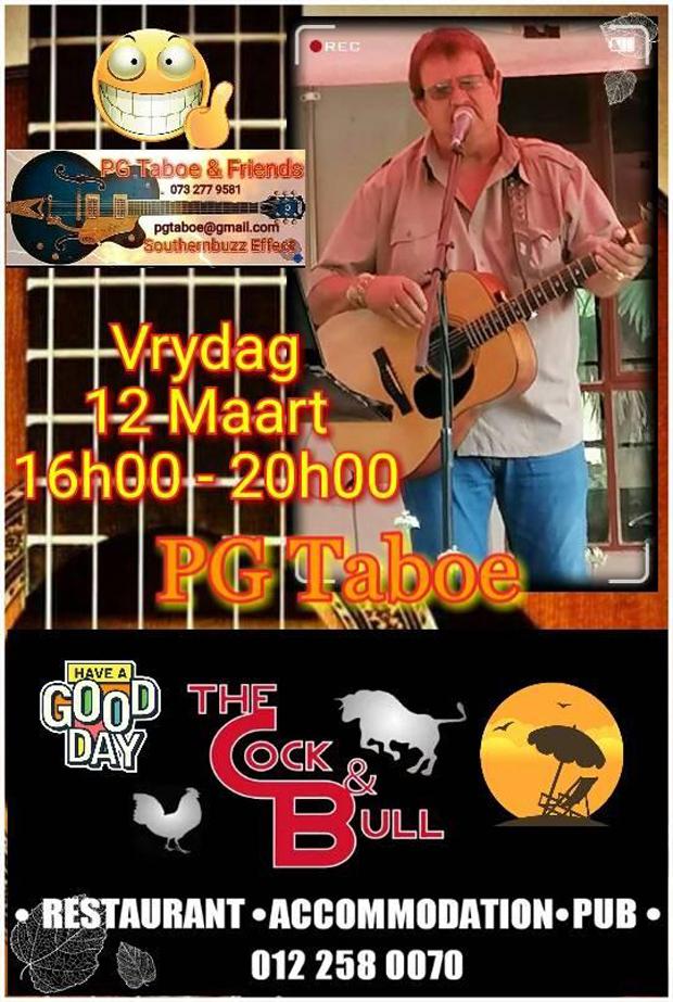 PG Taboe live at Cock & Bull